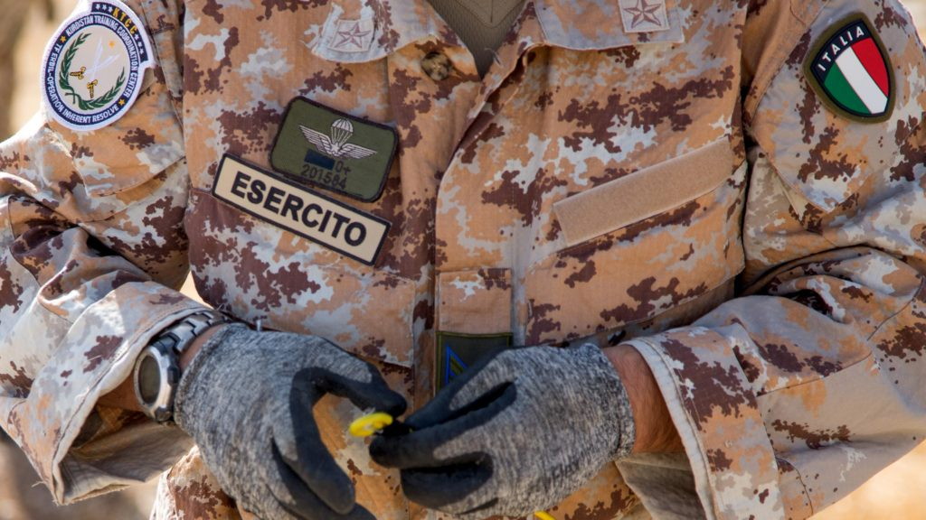 Italy army counter-IED training Iraq