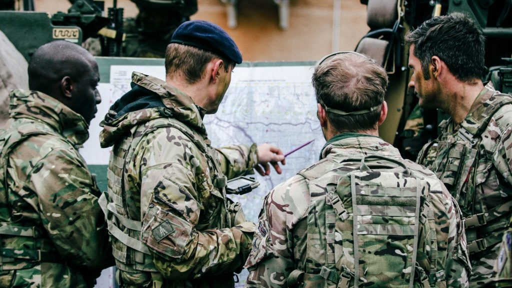 Planning recon during Saber Strike 2018
