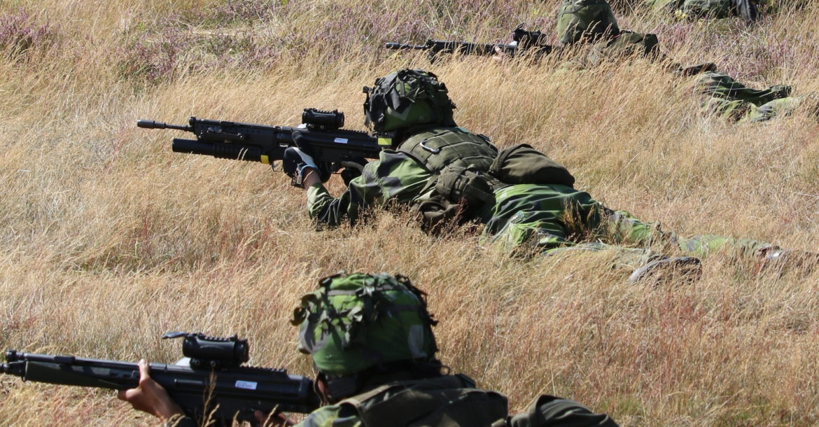 Sweden home guard soldiers