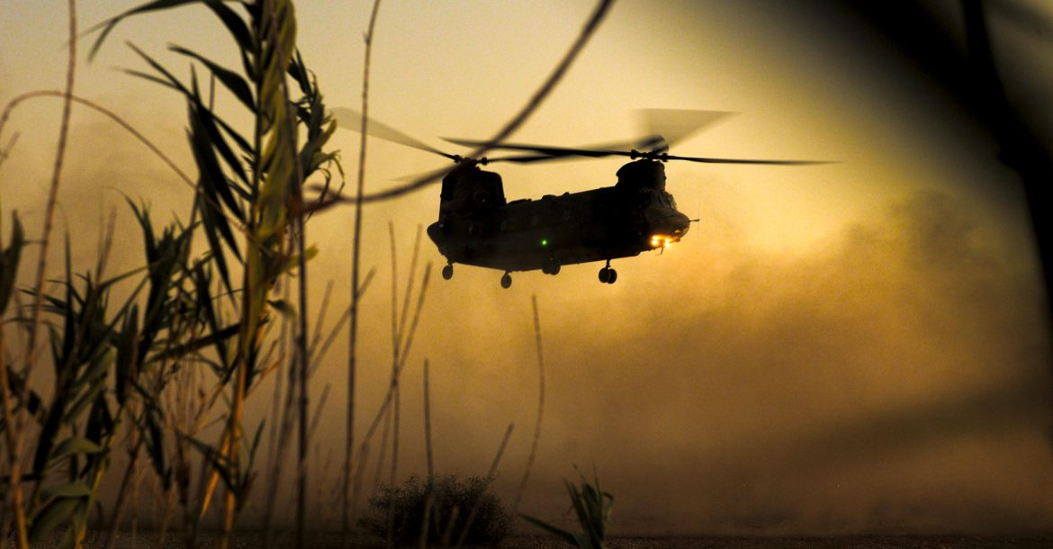 UK Chinook helicopter