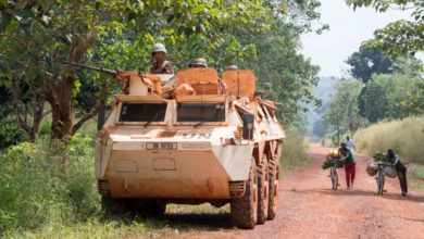Minusca peacekeepers in Bangassou, Central African Republic