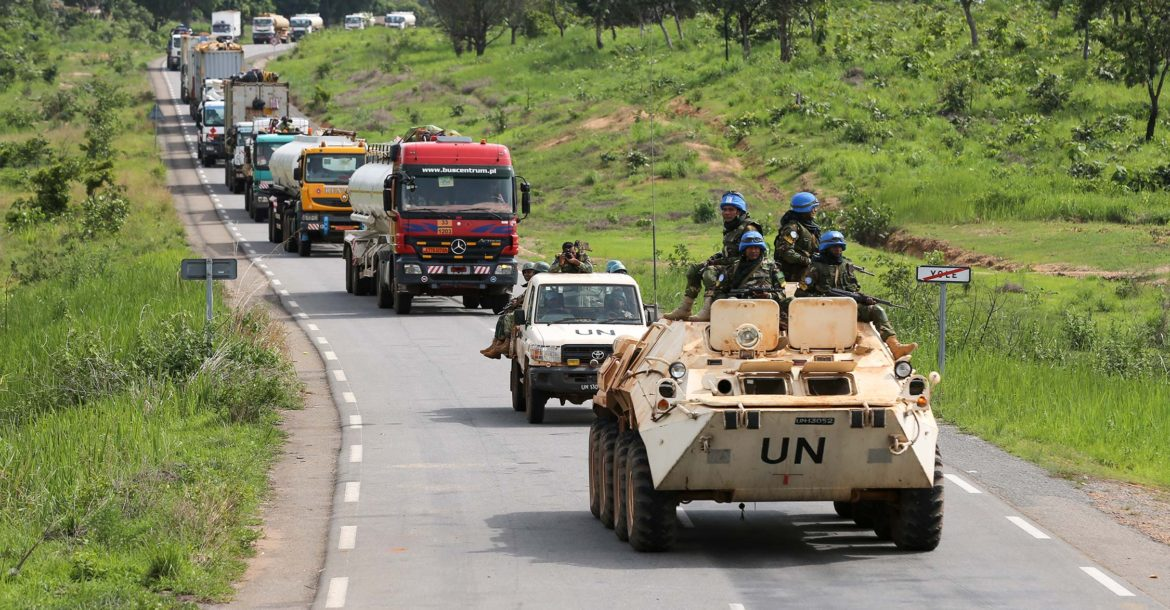 UN Minusca escorts convoy from Cameroon to Central African Republic
