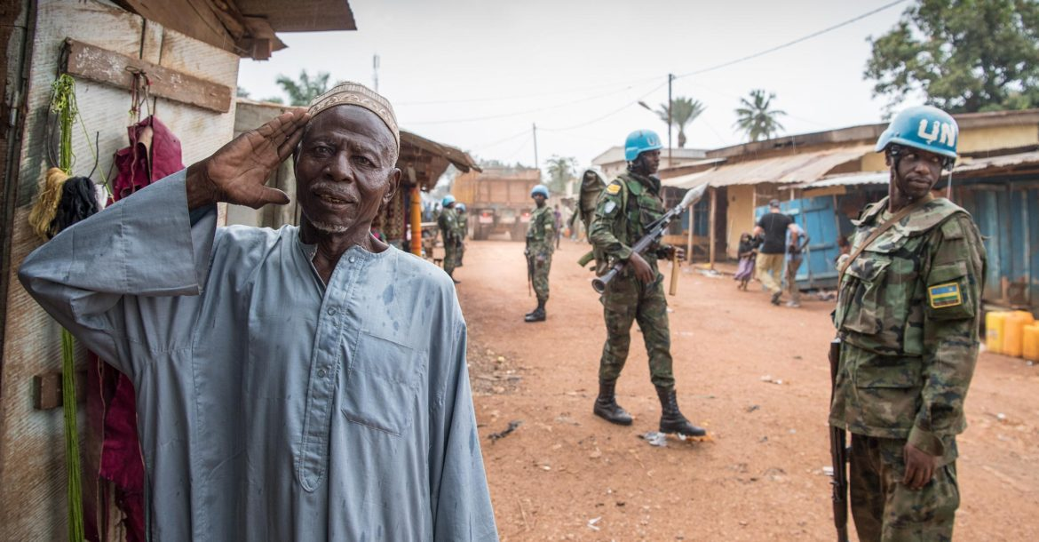 Minusca peacekeepers PK5, Bangui, Central African Republic