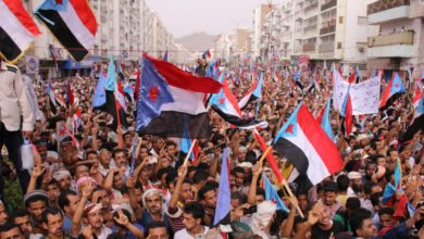 Supporters of the Southern Transitional Council attend a rally in Aden, Yemen