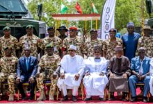 Muhammadu Buhari during Army Day celebrations