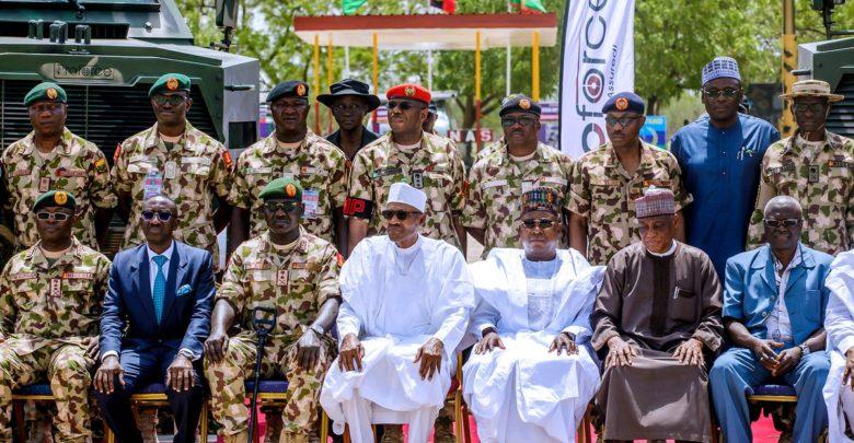 Muhammadu Buhari during Army Day celebrations