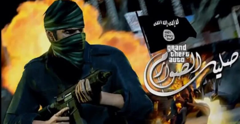A still from the ISIS video game 'Salil al-Sawarim' or 'clash of swords'
