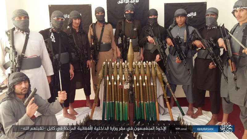 Still from an Islamic State-Khorasan Province (ISKP) propaganda video about attacks in Afghanistan's capital Kabul