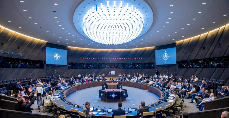 First NATO meeting in new headquarters