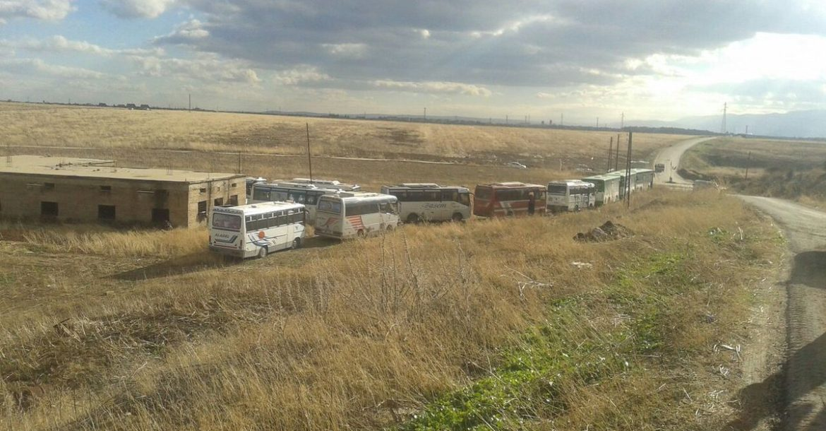 Buses bound for Foua and Kafriya in Syria