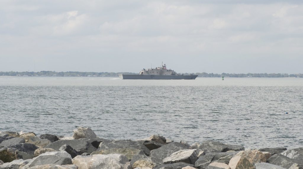 USS Little Rock departs Naval Station Norfolk to conduct routine training