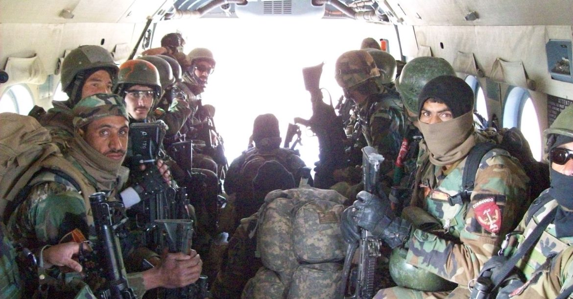 Afghan National Army Special Operations commandos