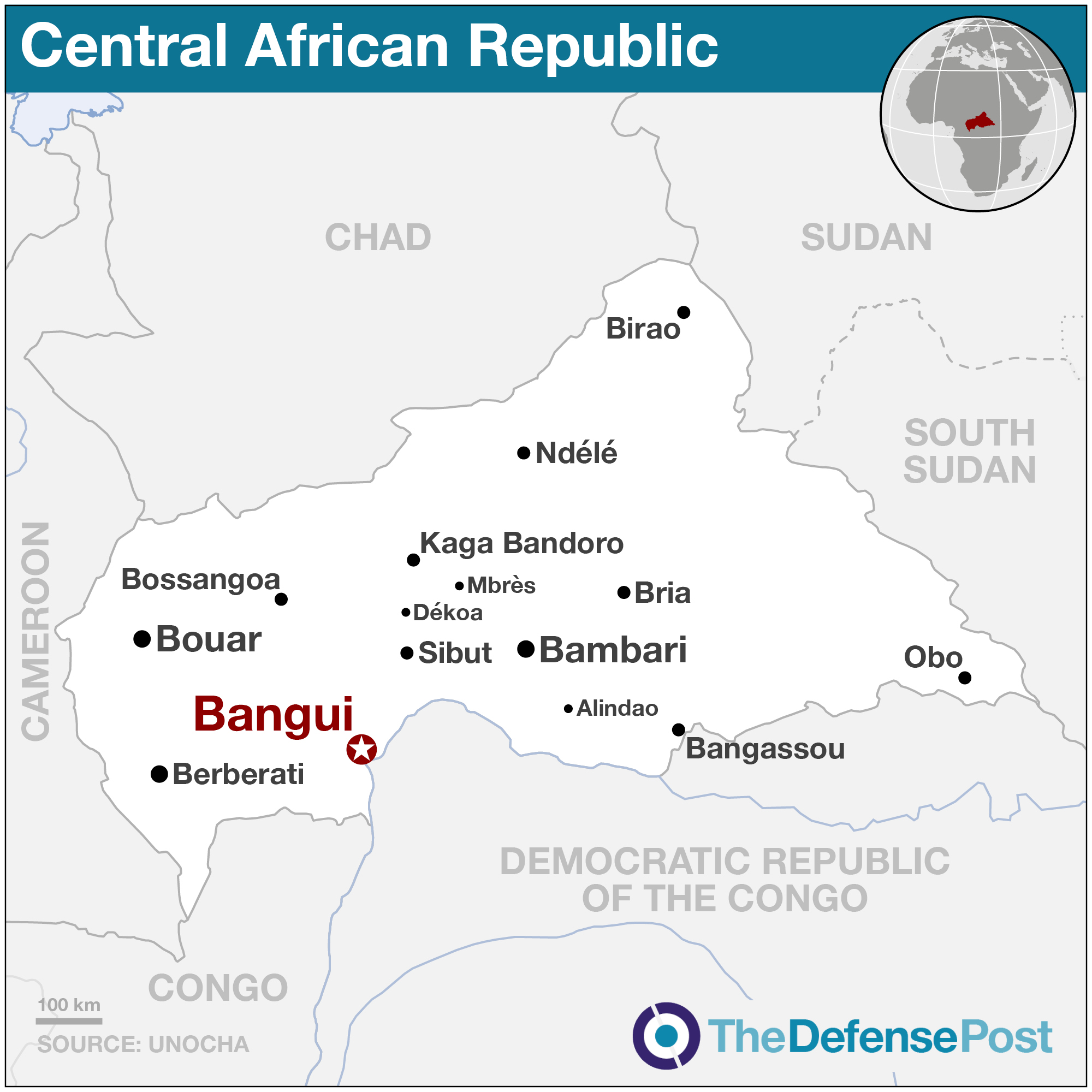 Central African Republic: toll in Alindao clashes rises to 48 on