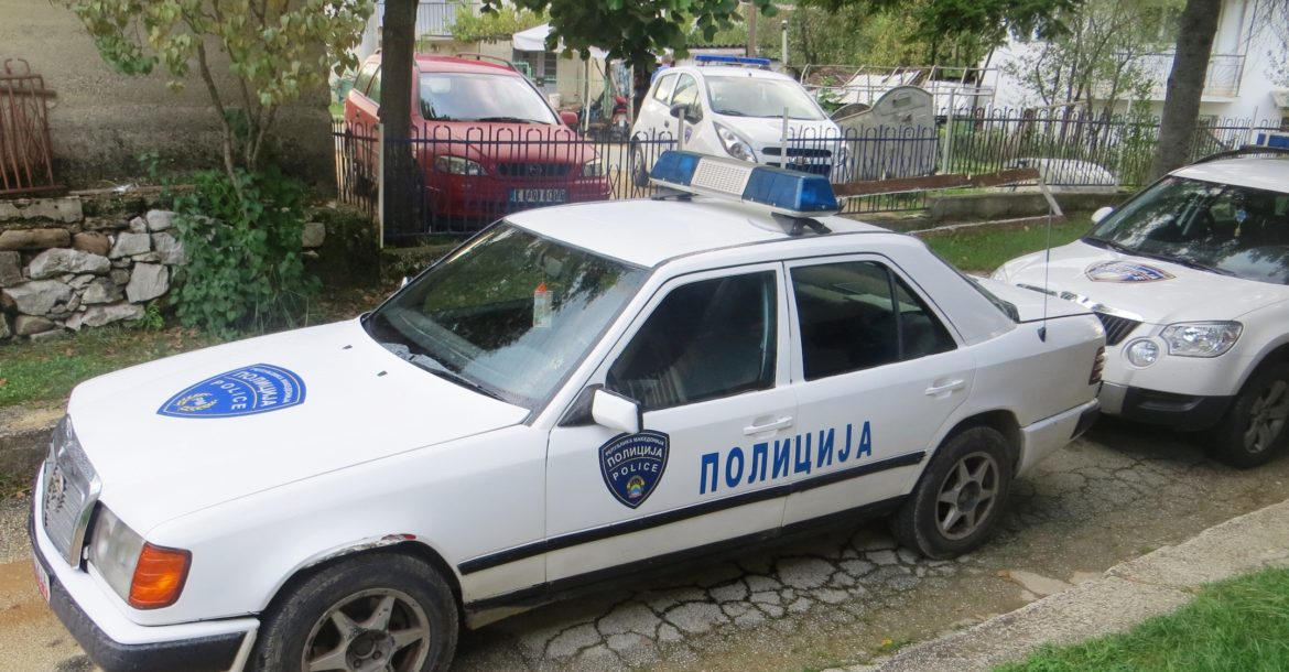 Macedonia police car