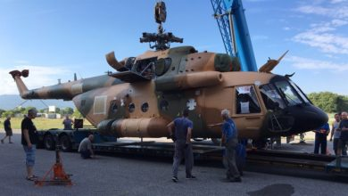 Afghan Mi-17 helicopter repaired by NATO