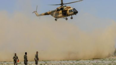 Afghan Air Force Mi-17 helicopter medical evacuation exercise