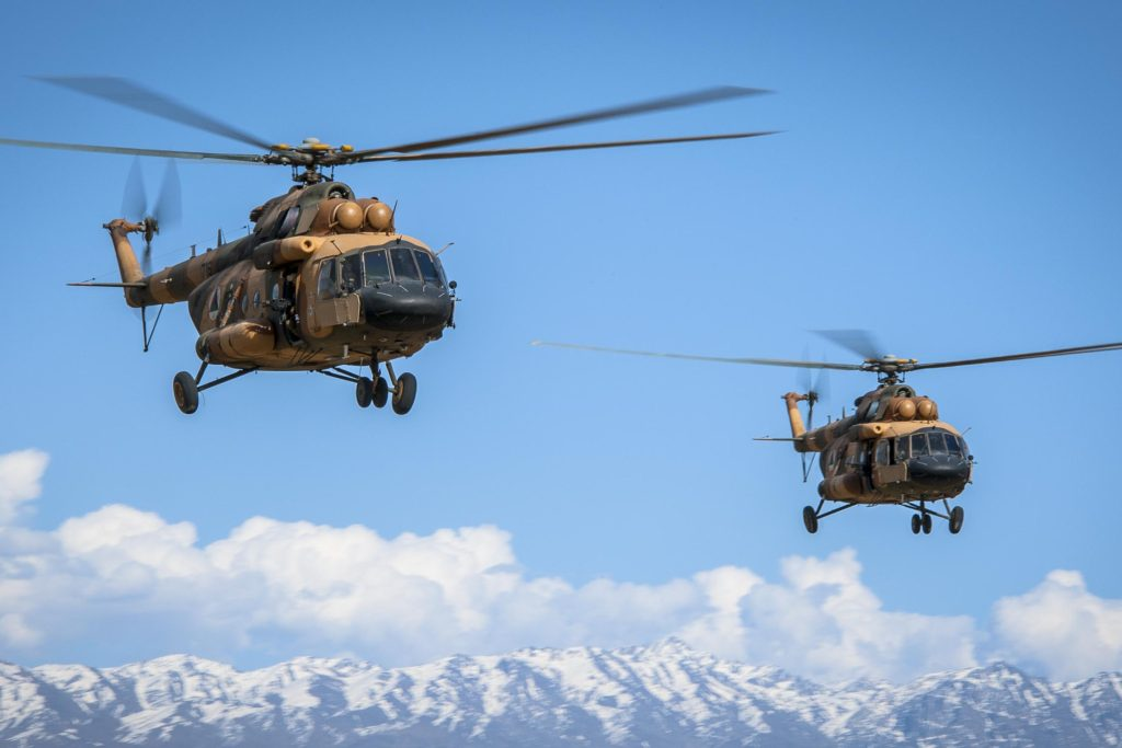 Afghan Special Mission Wing Mi-17 helicopters