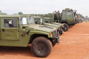 China donates vehicles to CAR's military