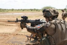 French and Estonian troops train in Mali