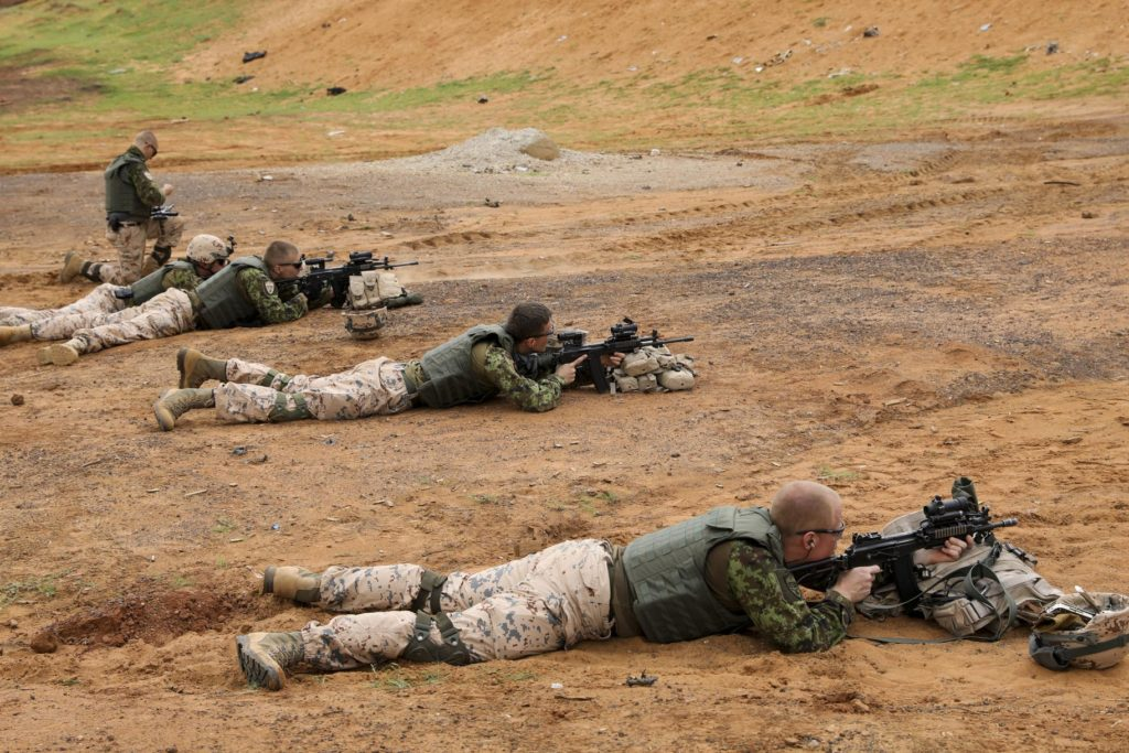 Estonian troops train in Mali