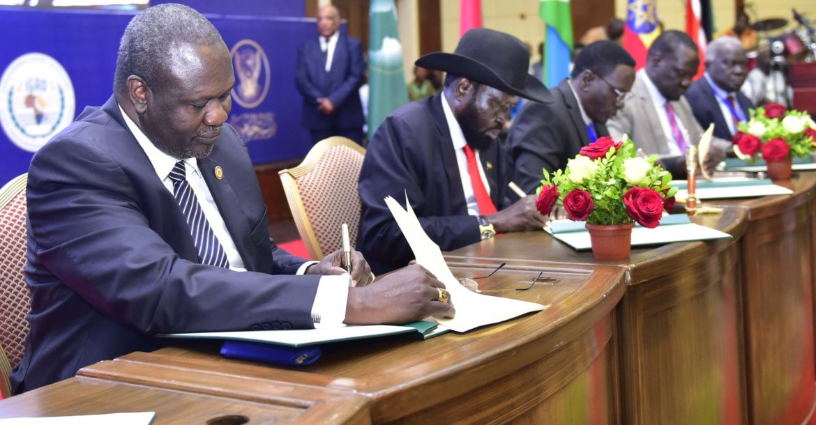 South Sudan Kiir-Machar power-sharing deal signed