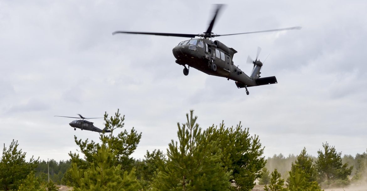 UH-60 Black Hawk helicopters in Latvia