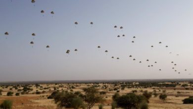 French troops parachute into the Menaka region of Mali