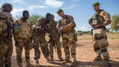 French paratroops train Mali soldiers