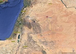 Israel Syria Jordan border area map