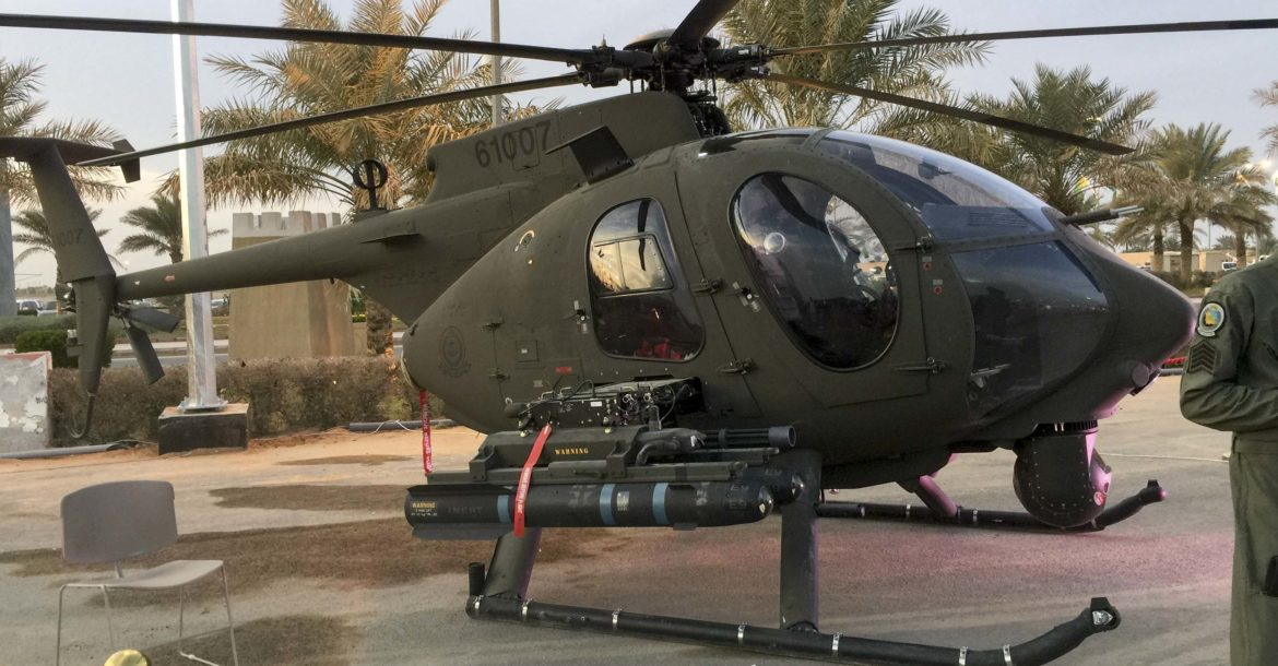 Saudi Arabia National Guard AH-6i helicopter