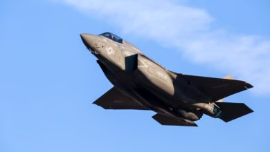 US Marine Corps F-35B takes off