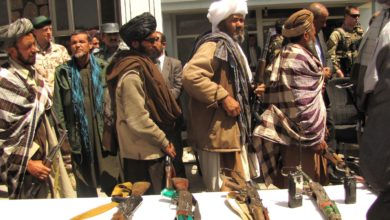 Former Taliban fighters at a reintegration ceremony in Afghanistan