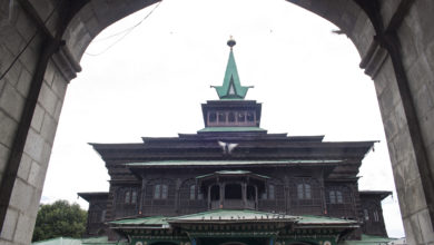 Khanqah-e-Moula shrine in Kashmir's capital, Srinagar