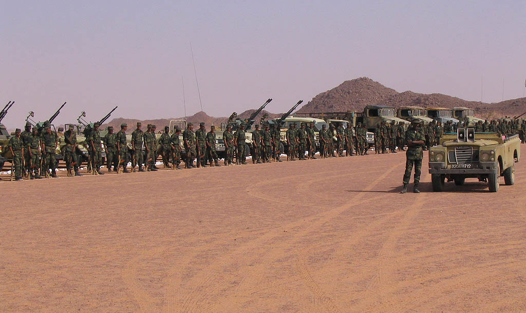 Gathering of Polisario Front troops, near Tifariti (Western Sahara)