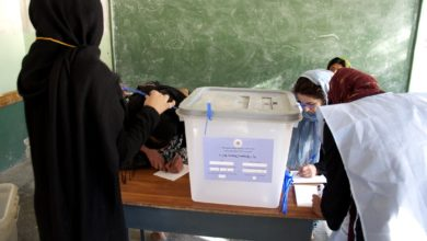 Afghanistan female election observers