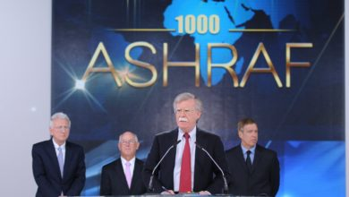 John Bolton speaks at an event in Paris for the Mojahedin-e Khalq (MEK) in 2014