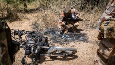French soldiers near Ndaki, Mali