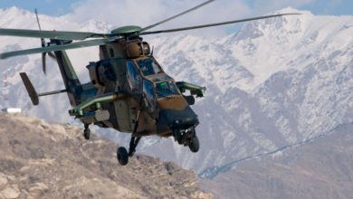 French Army Tigre helicopter