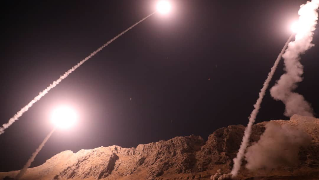 Iran's IRGC fired ballistic missiles at Syria