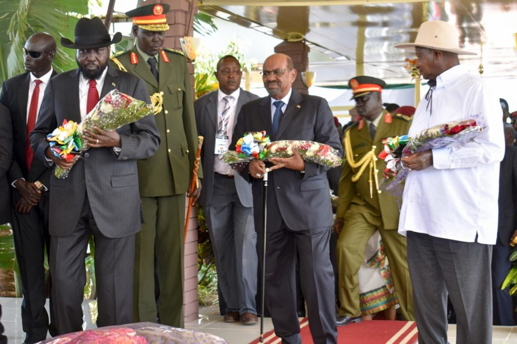 Presidents Kiir, Al-Bashir and Museveni pay respect in South Sudan