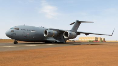 RAF C-17 Globemaster land in Gao, Mali for the first time