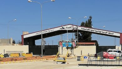 Nabir/Jaber border crossing between Syria and Jordan