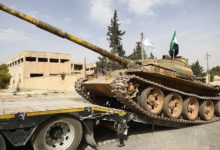 Syrian rebel tank in Idlib province