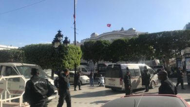 Aftermath of a reported explosion in Tunisia's capital Tunis