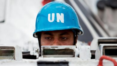 UN MONUSCO peacekeeper in Democratic Republic of Congo