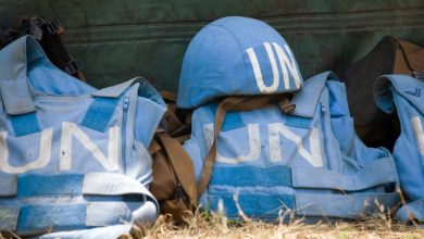 UN peacekeepers helmet and flak jackets