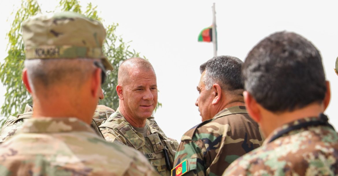 U.S. Army Brig. Gen. Jeffrey Smiley in Kandahar, Afghanistan