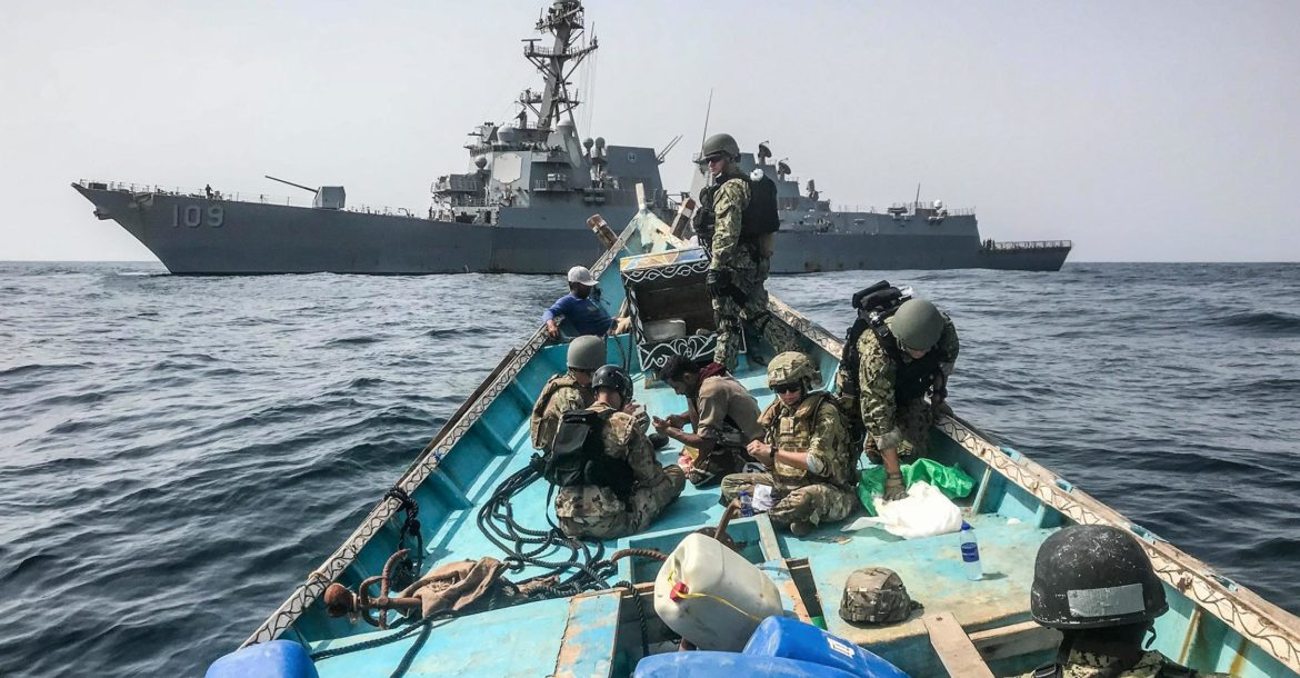 US Navy seizes weapons off Yemem