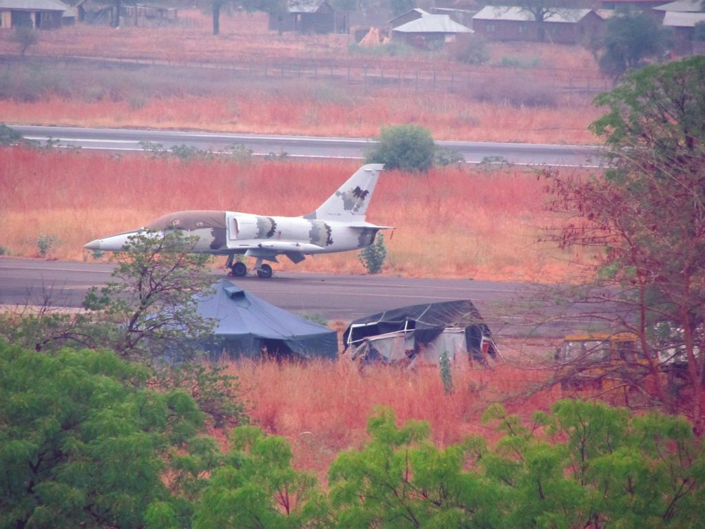 L-39 aircraft in Juba