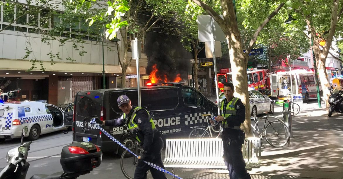 Australian police said they were treating a knife attack in Melbourne as terrorism